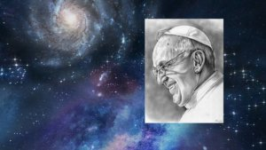image of Pope Francis illustrated by Greg Joensated